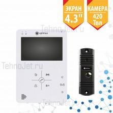 """Комплект видеодомофона с экраном 4"""", 420Твл """"Опти"""""""