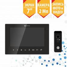 """Комплект видеодомофона с экраном 7"""", чёрный, 2Мп """"Эксперт"""""""